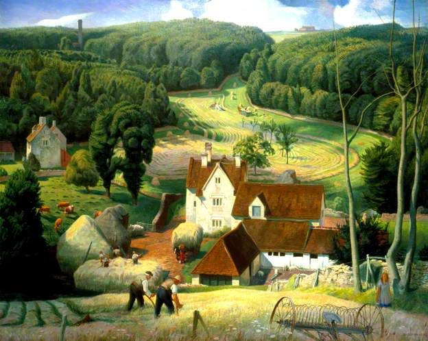 Haytime in the Cotswolds by James Bateman