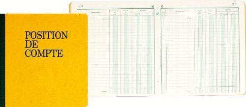 Exacompta – 950E – Registres et Piqures – Position de Compte – 80 Pages – Aleatoire: EXACOMPTA Piqûre «Position de compte», 210 x 190 mm…