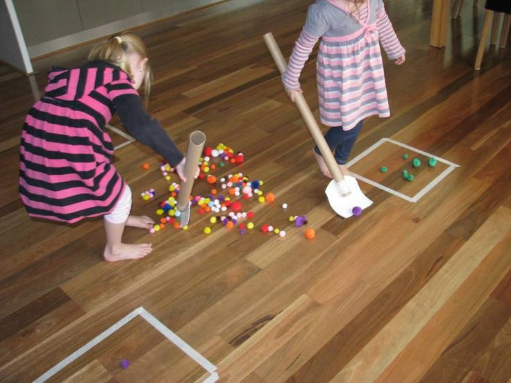 List of Active Play Activities | learning 4 kids Pompon hockey - who thought of this?