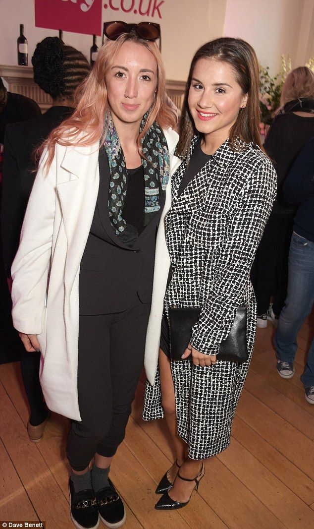 Stylish guests: Harley Moon Kemp (L) and Electra Formosa were on hand to check out the des...