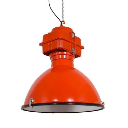 Orange industrial reclaimed light. We love this unique lamp – Gorgeos unique industrial lamp. We absolutely love the roughness and honesty of this piece - Share our passion for the unique and honest – We collect similar ones – Share our passion – www.onlyonceshop.com