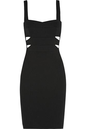 Cutout ribbed stretch-knit dress #knitdress #women #covetme #narcisorodriguez #cute #lbd #fashion #designer