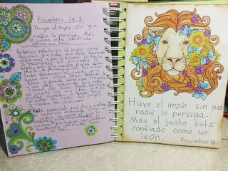 Annette Arte y Scrap: Diario Biblico- Proverbios 28: 1
