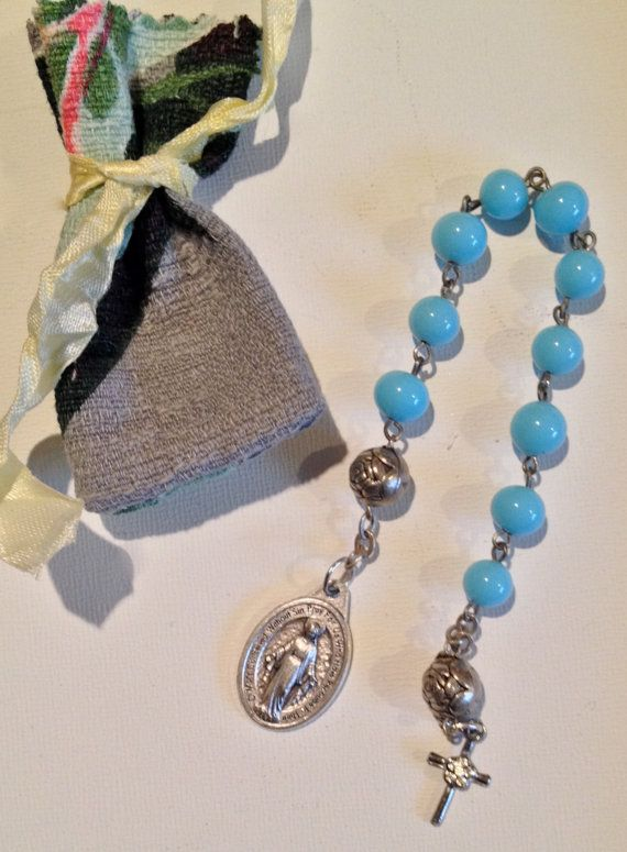 Rosary Single Decade Rosary  Prayer Beads with by DianaDDarden