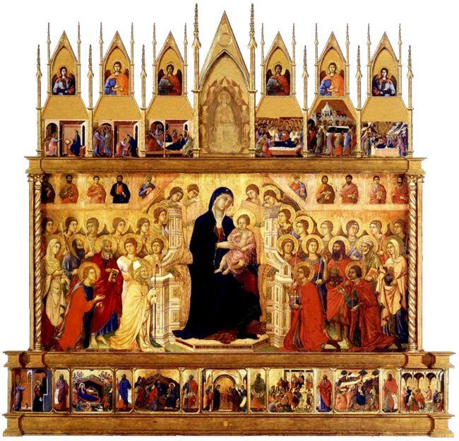 Maestà (recto) Duccio di Buoninsegna, 1308 - 1311 tempera su tavola , 2,12×4,25 m Museo dell'Opera Metropolitana del Duomo, Siena