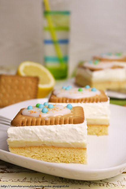 Wonder Wunderbare - Küche: Zitronen-Butterkeks-Kuchen vom Blech