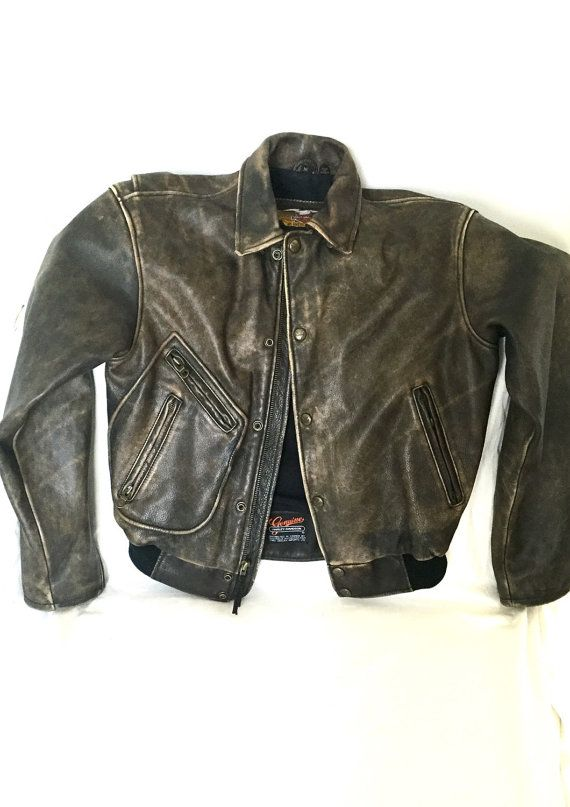 Vintage Harley Davidson panhead leather by Kimscottageloft on Etsy