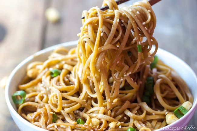 I used vermicelli noodles instead, and this recipe is really good! The sauce is not as thick as the other recipe I tried and it has a really nice consistency and taste. his is great with the baked chicken.