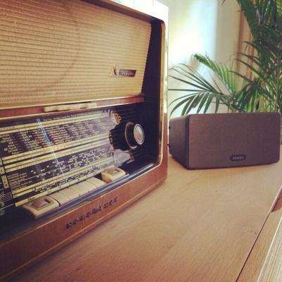 Old meets New! SONOS PLAY:3 #sonos #radio #oldskool #music #play3 #wireless