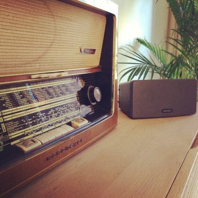 Old meets New! SONOS PLAY:3 #sonos #radio #oldskool #music #play3 #wireless