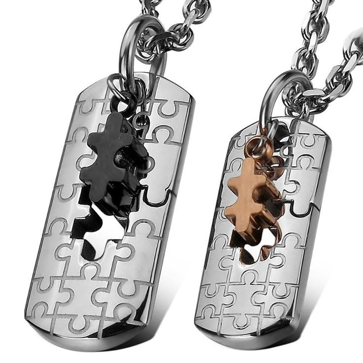 Jigsaw Puzzle Stainless Steel Necklace