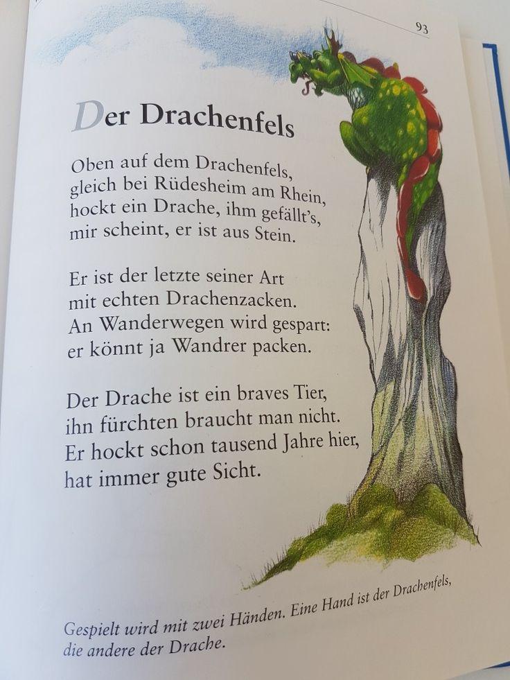 Der Drachenfels #fingerspiel #krippe #kita #kindergarten  #kind #reim #gedicht #erzieherin #erzieher