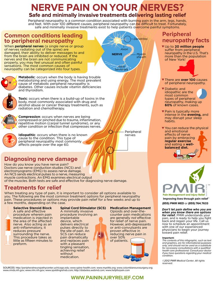 At PMIR, your painful nerve symptoms can be managed, and we have pain management specialists and a neurologist on staff to help you achieve relief.