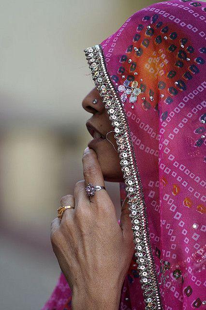 Veiled and jeweled . Pushkar, India