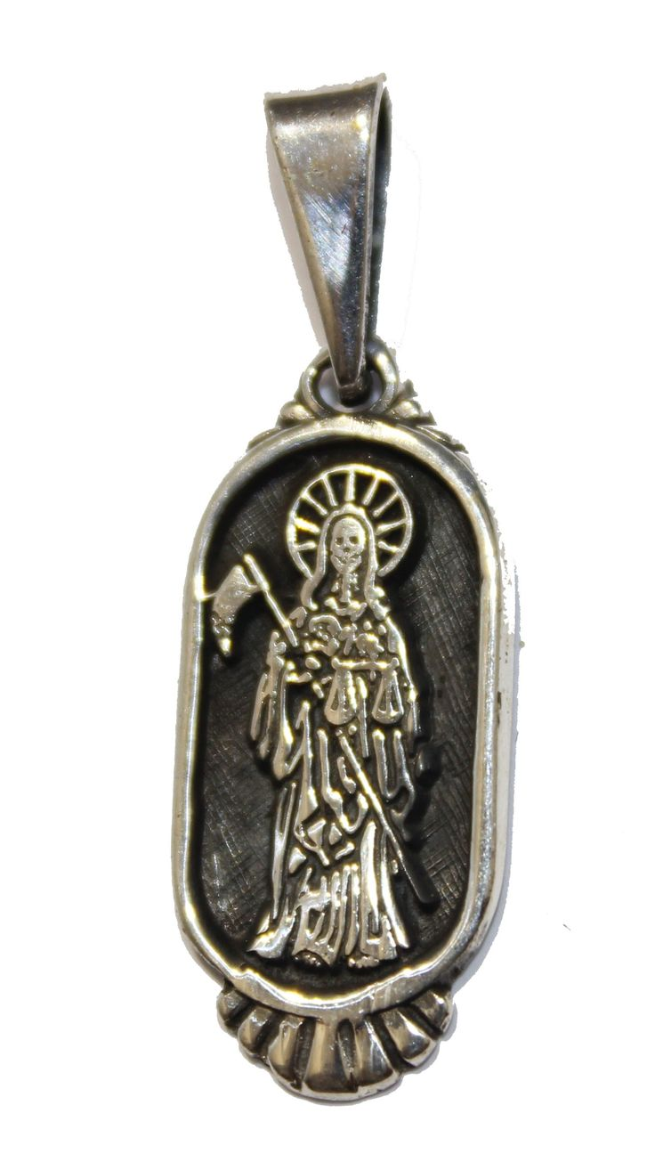 7 best my flakita images on pinterest santa muerte altars and santa muerte grim reaper holy death pendant 925 sterling silver mexico mozeypictures Gallery