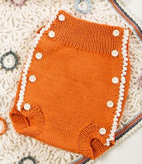 knitted cloth diapers with crochet edges