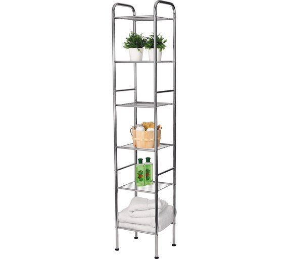 Buy HOME 6 Tier Wire Shelf Unit at Argos.co.uk, visit Argos.co.uk to shop online for Bathroom shelves and storage units, Bathroom furniture, Home and garden