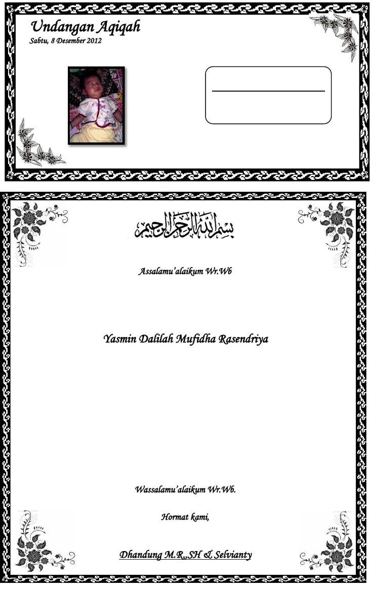 Contoh Surat Undangan Aqiqah (Dengan gambar) | Undangan