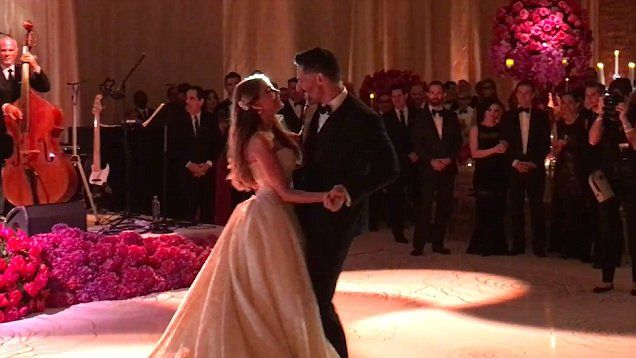 Sofia Vergara shares first dance with Joe Manganiello at their beautiful Florida wedding venue.