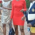 "Porsha Stewart's Red Thatcher Minimalist Body Con Dress on ""Real Housewives of Atlanta"""
