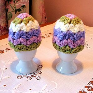 Pair Of Spring Egg Cosies - kitchen