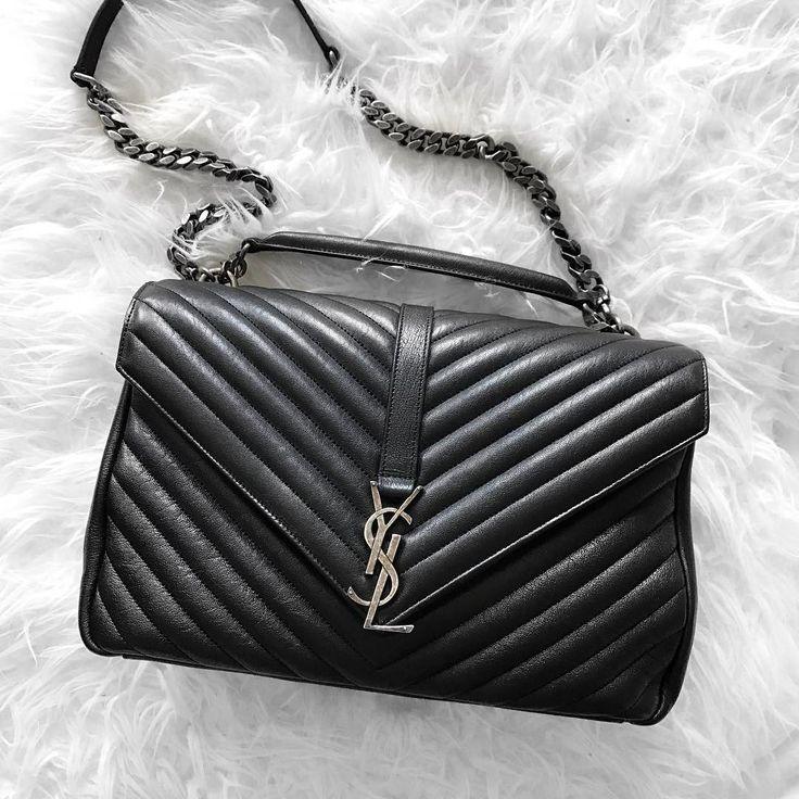 Black Saint Laurent 'Collège' bag | pinterest: @Blancazh