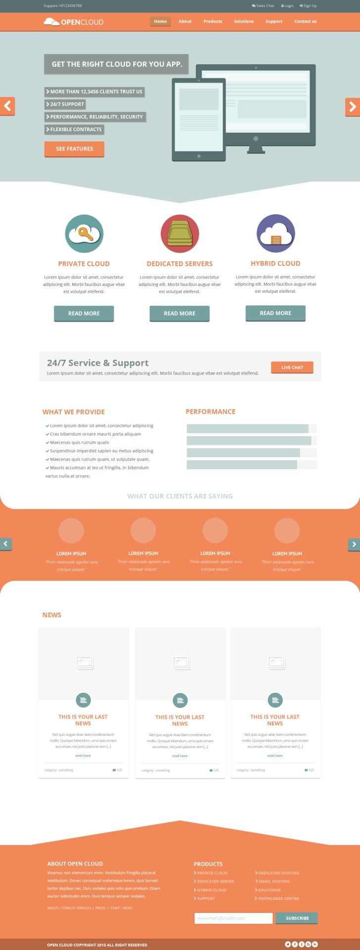 Open Cloud Free Hosting Template