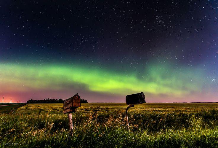 AWESOME Northern lights east of Winnipeg...