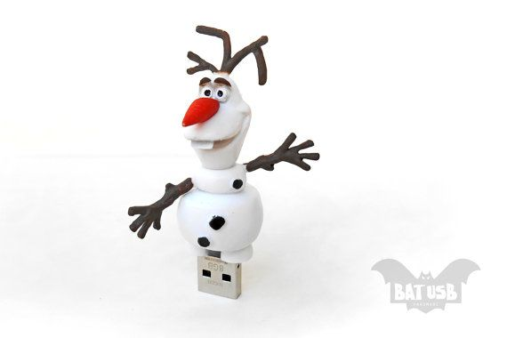 BAT™ 8 GB USB flash drive - Memory Stick - Olaf snowman character from Frozen movie - Geek Gadget - Disney toy - Sandisk usb - Children toy by Think4HandmadeArt 28€
