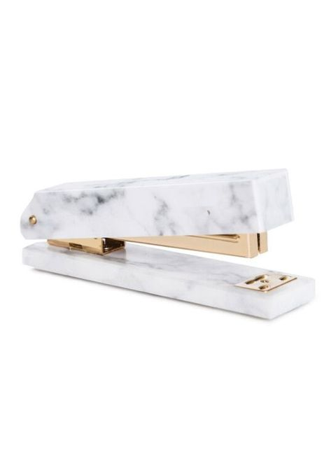Acrylic Marble and Gold Stapler