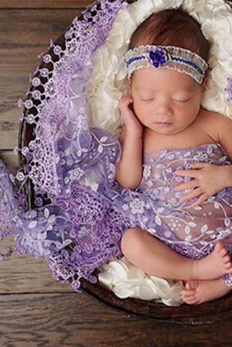 Purple Violet Baby Sheer Scarf Swaddle Wrap Photo Prop Ccpsw4