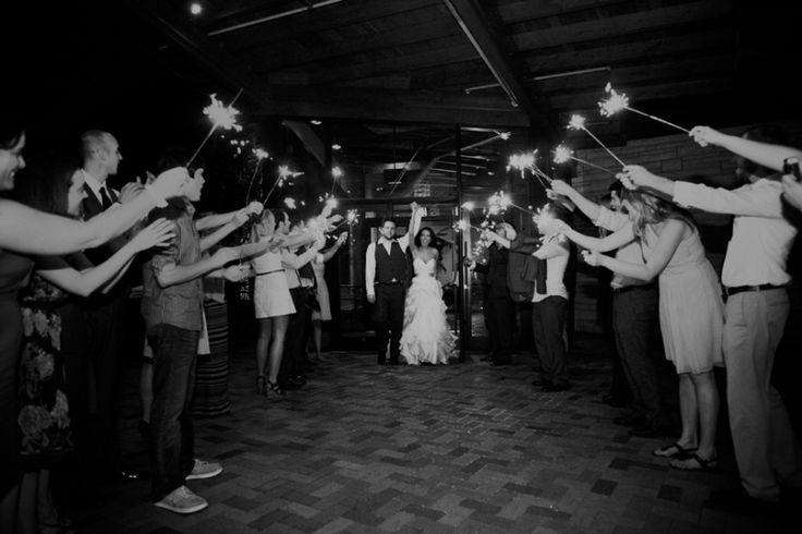 Sparkler exit, Independence Grove Wedding #spring #wedding www.ashleybiess.com