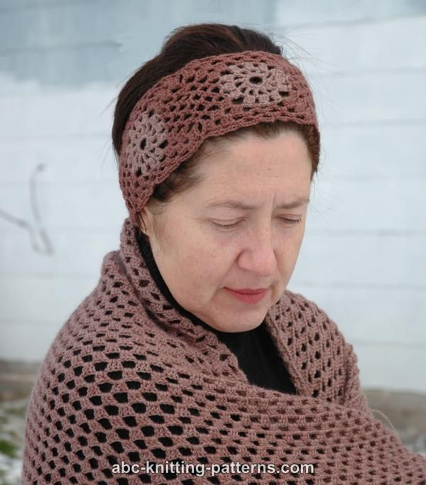 ABC Knitting Patterns - Square Motif Headband