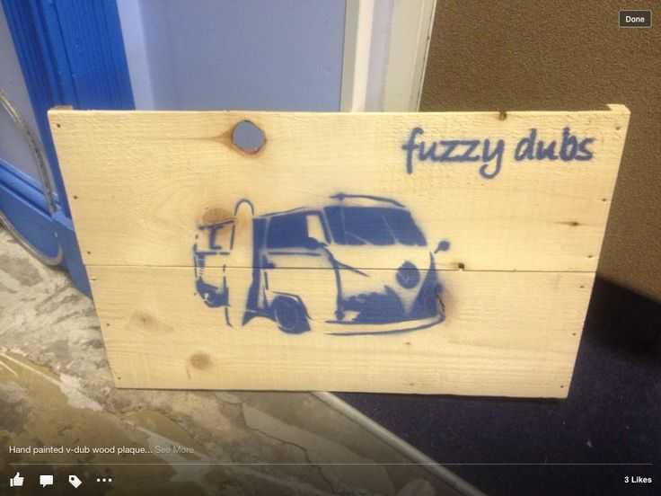Hand painted fuzzy dub plaque.