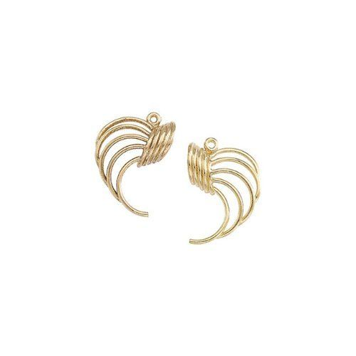 875 14KW Gold Left 28X19.00mm Semi-Polished Earring Jacket Enlightened Expressions. $168.66. 19.75. E100 Stainless Steel PAIR 50.00 MM CHOCOLATE IMMERSE PLATED 50MM KNIFE EDGE HOOP /