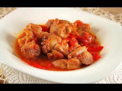 Turkey Stew with Bell Peppers  and Garlic * YUMMY!