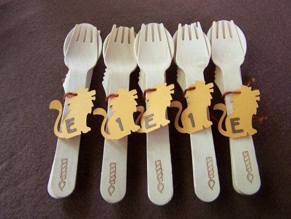 Lion Safari Birthday Party Cutlery