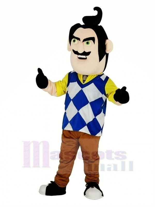 Mr Peterson From Hello Neighbor Man Mascot Costume People Mascot Costumes Mascot Hello Neighbor