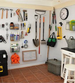 PEGBOARD GARDEN TOOLS, Find anything Fast. . . Description: Check out Lowe's Idea Exchange today to see more inspiring projects.