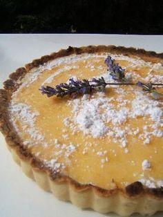 Tarte+au+citron+et+fleurs+de+lavande
