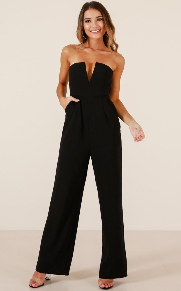 ccd4c8151547 Catching Up jumpsuit in black