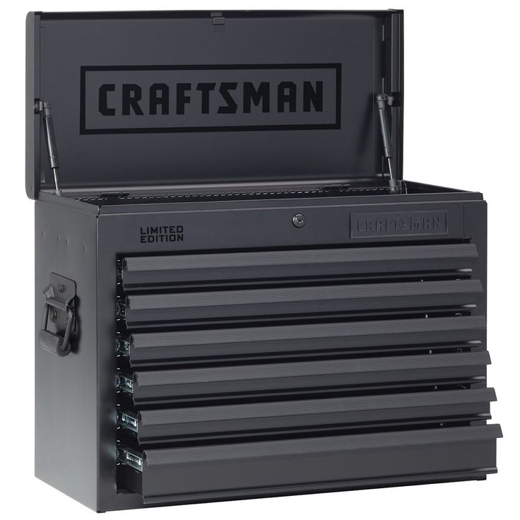Craftsman 26 In Wide 6 Drawer Heavy Duty Top Chest Flat