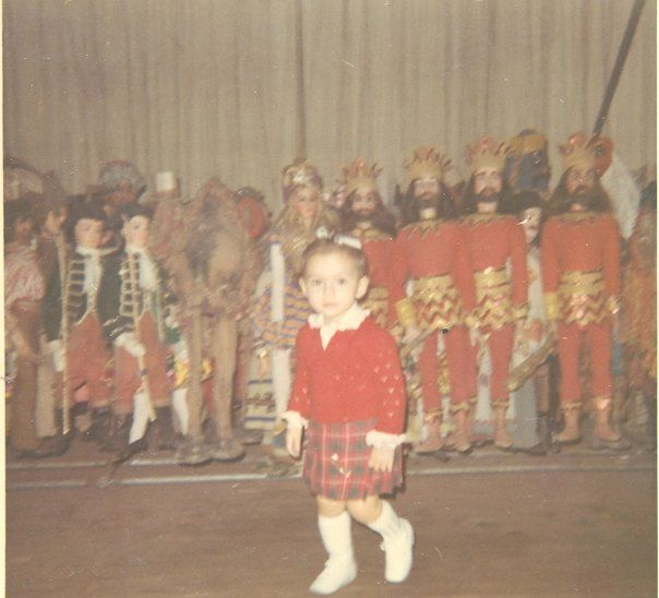 The little girl is me, Cristina Colla, on 1968, at Piccola Scala in Milan with Carlo Colla & figli marionettes