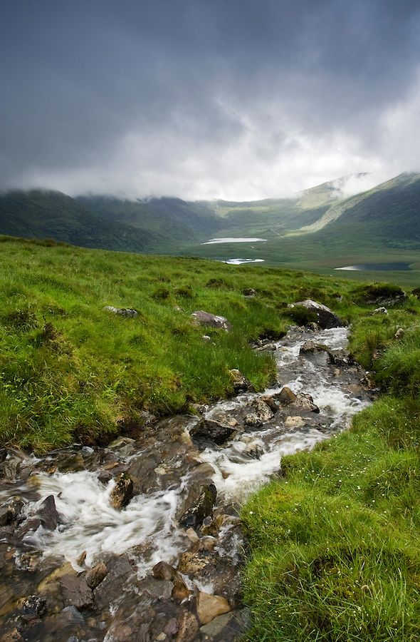 Conor Pass on the Dingle Peninsula is Ireland's highest mountain pass ... Co. Kerry, Ireland.