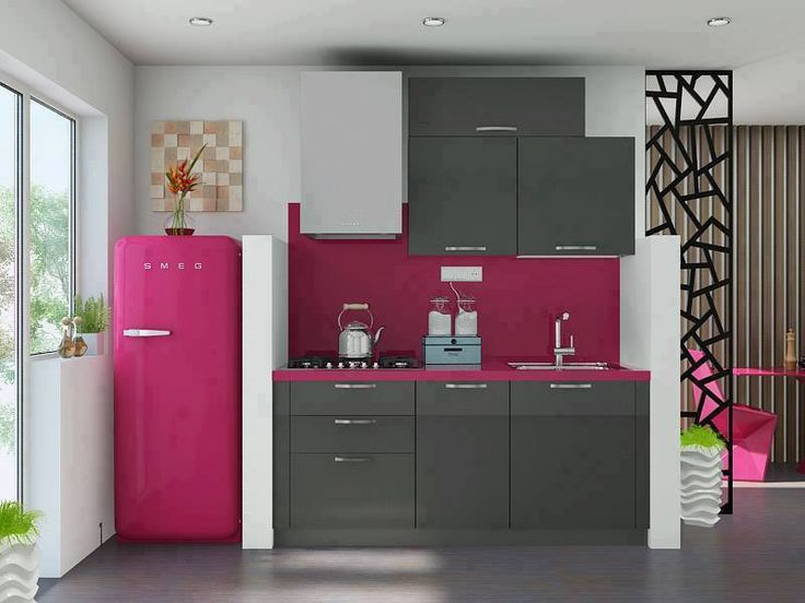 pink color kitchen interior design with best offer price pink jaggajasoos - Magenta Kitchen Design
