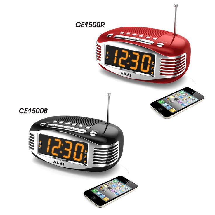 Akai CE1500R Red Clock Radio Retro AM/FM Ppl Radio Wake Up