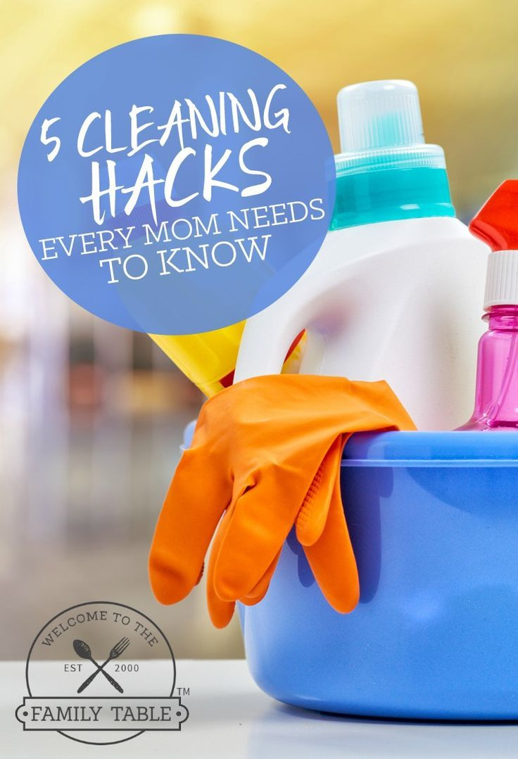 Moms: Do you dread cleaning? Or could you use some tips to get it done more quickly? If so, here are 5 cleaning hacks every mom needs to know. via @carliekercheval