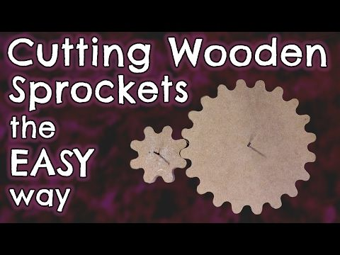 Cutting Wooden Sprockets the EASY way - by VegOilGuy - YouTube