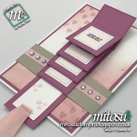 Stamp Review Crew ~ Tabs For Everything waterfall card using Stampin' Up! Products.