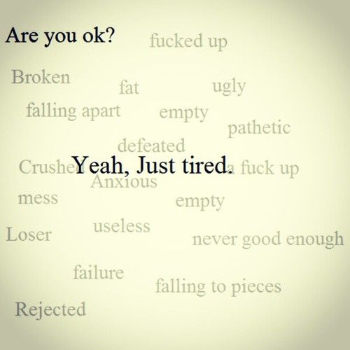 I claim 'tired' all the time. I could add/change a few words too.